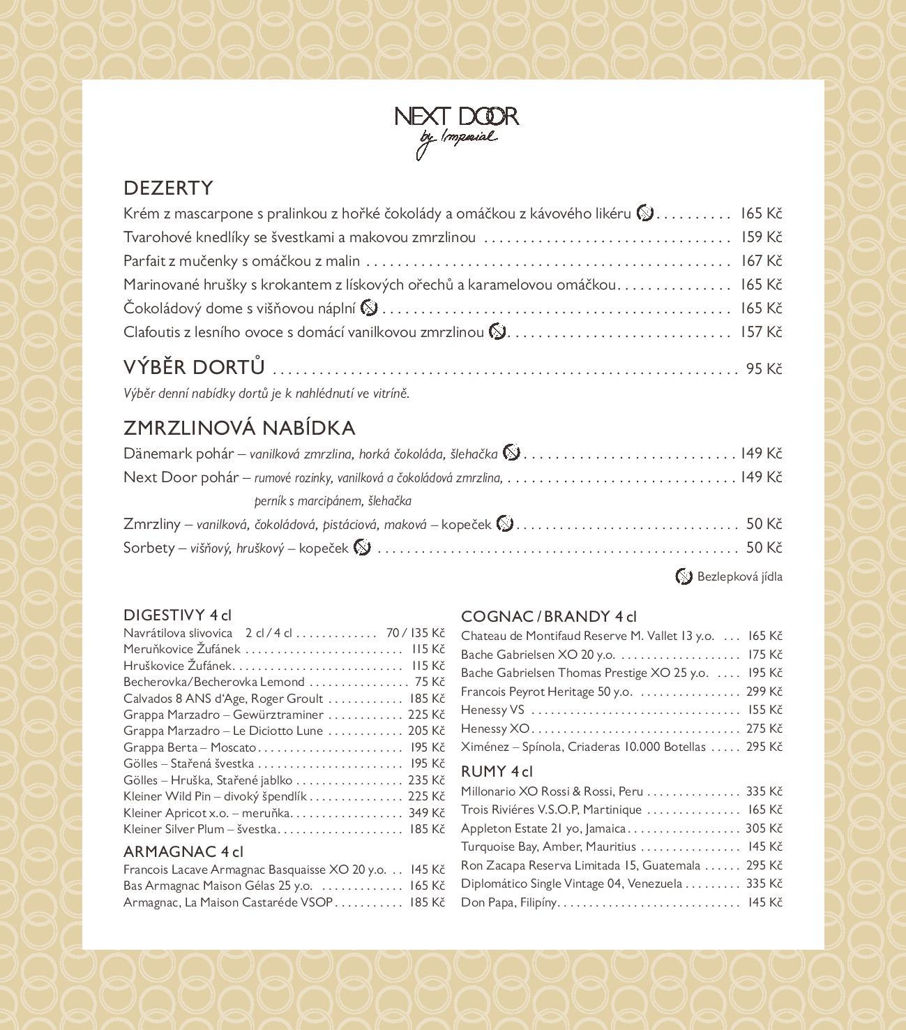 Dezertní menu
